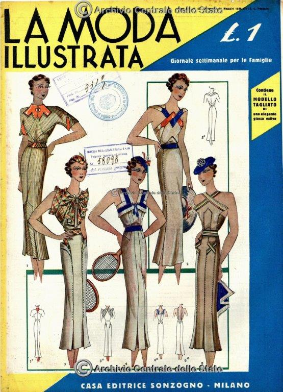 Fascismo La moda illustrata